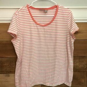 Chico's Striped Tee Shirt XL